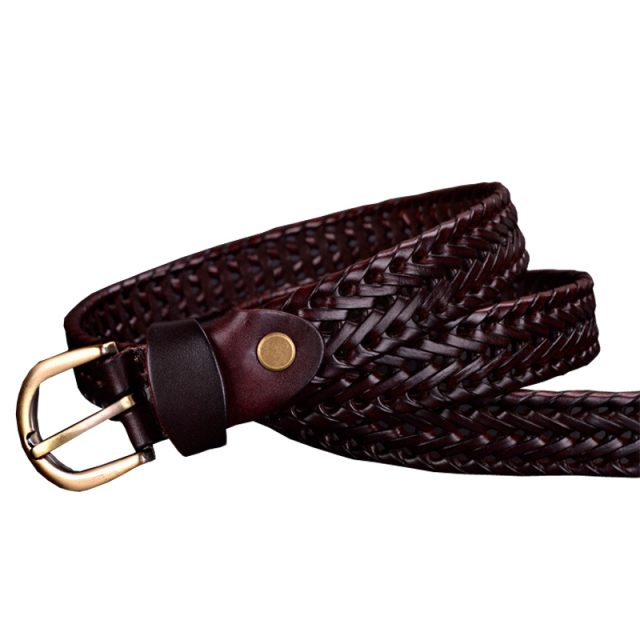 Fashion Braided Leather Women's Belt